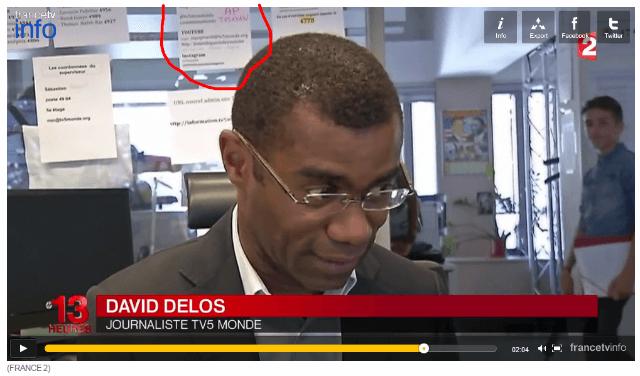 tv5monde met wachtwoord zichtbaar in beeld